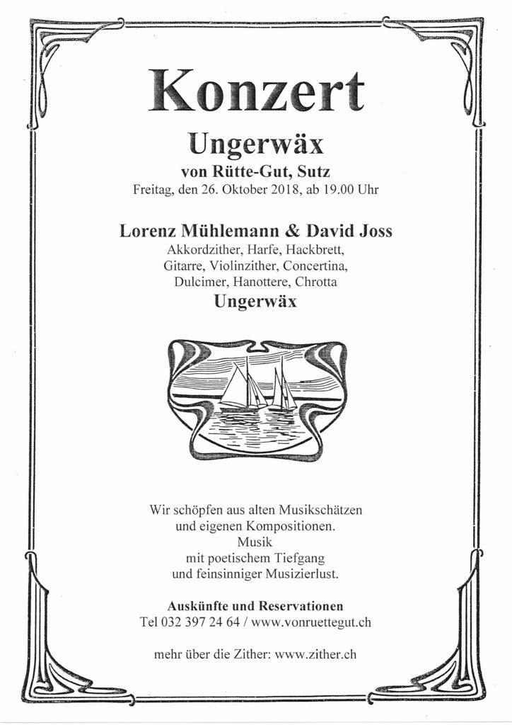 Konzert Ungerwäx
